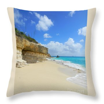 Sand Sea And Sky Throw Pillow by Expressionistart studio Priscilla Batzell