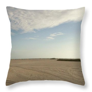 Sand Storm At St. Pete Beach Throw Pillow by Gail Kent