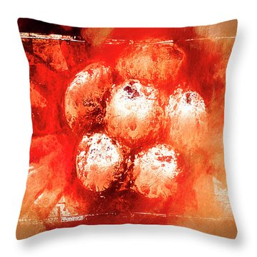 Throw Pillow featuring the digital art Sand Storm by Carolyn Marshall