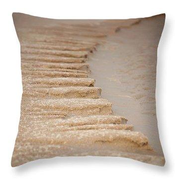 Sand Texture Throw Pillow by Sally Simon