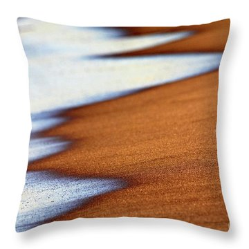 Sand And Waves Throw Pillow