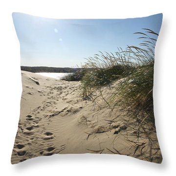 Sand Tracks Throw Pillow