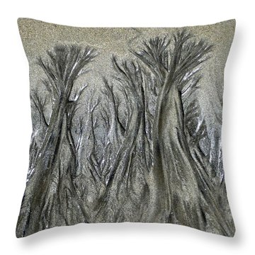 Sand Trees Throw Pillow