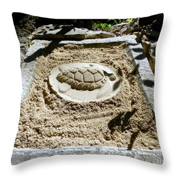 Throw Pillow featuring the photograph Sand Turtle Print by Francesca Mackenney