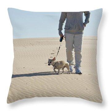Throw Pillow featuring the photograph Sand Walk by Tara Lynn