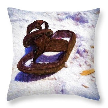Sandals In The Sand Throw Pillow
