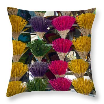 Sandalwood Incense Sticks Throw Pillow
