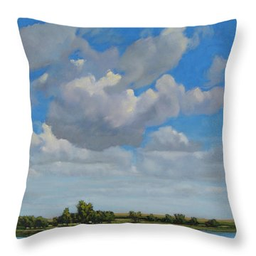 Sandbar Slough July Skies Throw Pillow