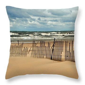 Sandblasted Throw Pillow by Michelle Calkins