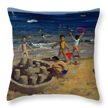 Sand Castle Throw Pillows