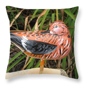 Sanderling Back Throw Pillow by Kevin F Heuman