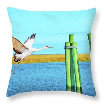 Sandhill Crane Throw Pillow