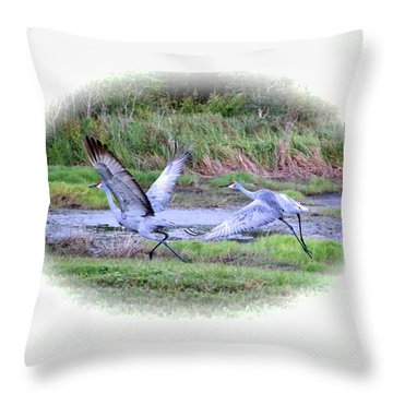 Sandhills - Poetry In Motion Throw Pillow