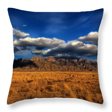 Sandia Crest In Late Afternoon Light Throw Pillow