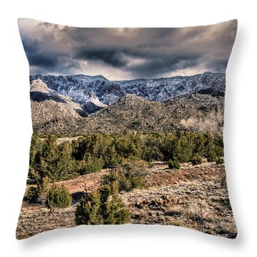 Throw Pillow featuring the photograph Sandia Mountain Landscape by Alan Toepfer