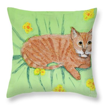 Sandie's Cat Throw Pillow