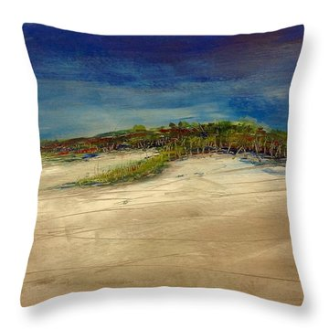 Sandilands Beach - Overcast Day Throw Pillow