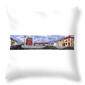 Sandomierz City Throw Pillow