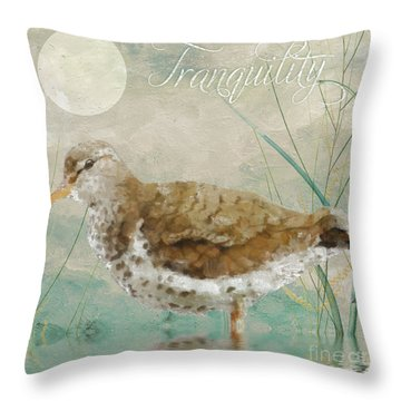 Sandpiper II Throw Pillow by Mindy Sommers