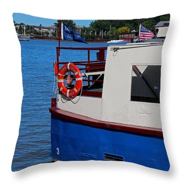 Sandpiper On The Maumee Throw Pillow