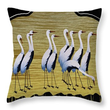 Sandpipers II Throw Pillow
