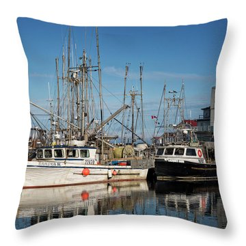 Throw Pillow featuring the photograph Sandra M And Lasqueti Dawn by Randy Hall