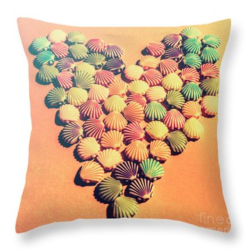 Sands Of Retro Love Throw Pillow