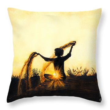 Sands Of Time Throw Pillow