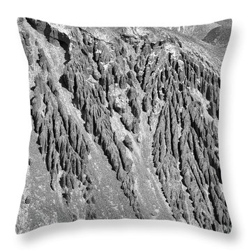 Sands Of Time Monochrome Art By Kaylyn Franks  Throw Pillow
