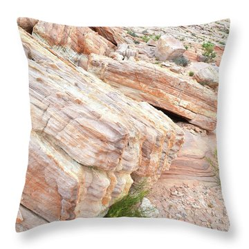 Throw Pillow featuring the photograph Sandstone Along Park Road In Valley Of Fire by Ray Mathis