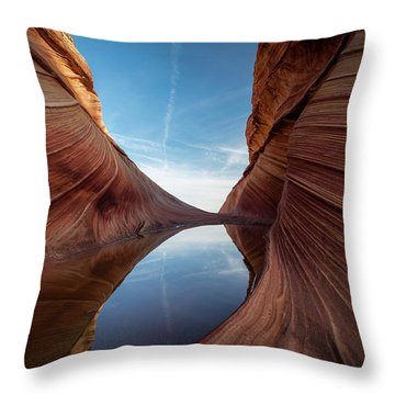 Sandstone And Sky Throw Pillow