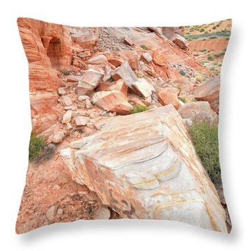 Throw Pillow featuring the photograph Sandstone Arrowhead In Valley Of Fire by Ray Mathis