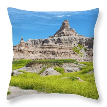 Throw Pillow featuring the photograph Sandstone Battlestar by John M Bailey