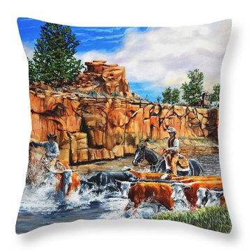 Sandstone Crossing Throw Pillow