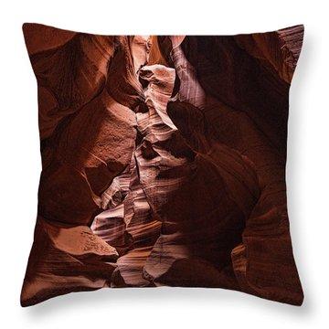 Sandstone Curves Throw Pillow