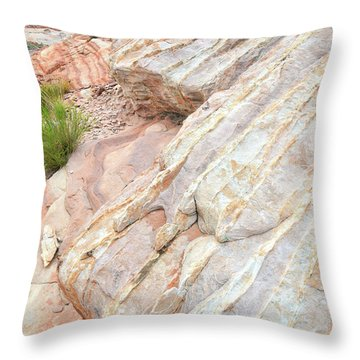 Throw Pillow featuring the photograph Sandstone Feet In Valley Of Fire by Ray Mathis