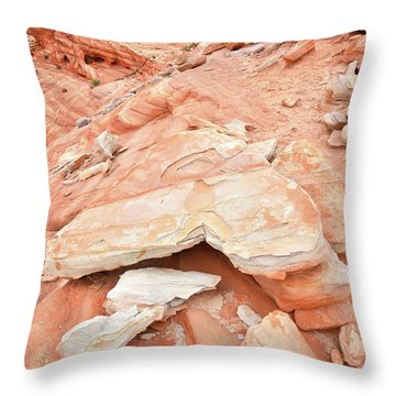 Throw Pillow featuring the photograph Sandstone Heart In Valley Of Fire by Ray Mathis