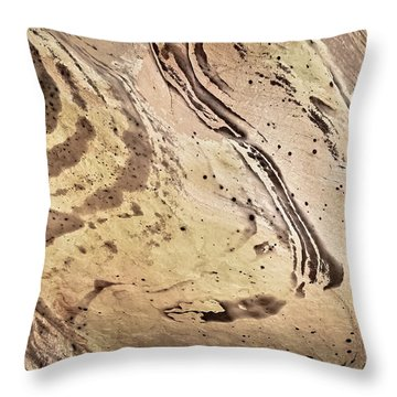 Throw Pillow featuring the photograph Sandstone Swirls by Tom Vaughan
