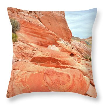 Throw Pillow featuring the photograph Sandstone Pillar In Valley Of Fire by Ray Mathis