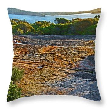 Throw Pillow featuring the photograph Sandstone Platform by Miroslava Jurcik