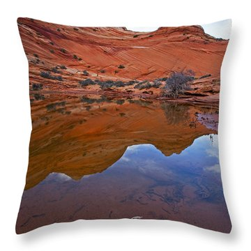 Sandstone Pools Throw Pillow by Mike  Dawson