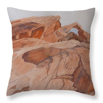 Sandstone Rainbow Throw Pillow