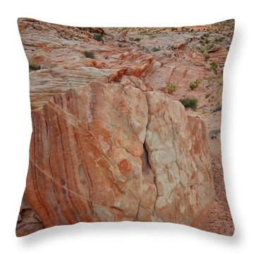 Sandstone Shield In Valley Of Fire Throw Pillow