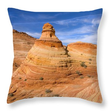 Sandstone Tent Rock Throw Pillow by Mike  Dawson