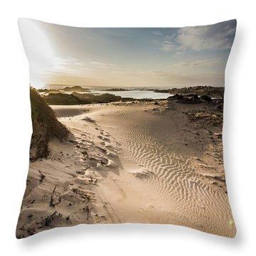 Sandy Beach Haven Throw Pillow