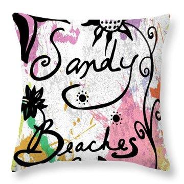 Sandy Beaches Throw Pillow