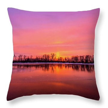 Sandy Chute Sunset Throw Pillow