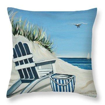 Sandy Cove Throw Pillow by Elizabeth Robinette Tyndall