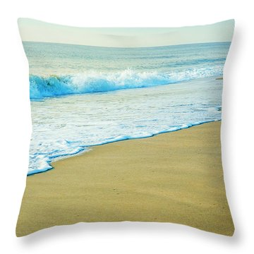 Sandy Hook Beach, New Jersey, Usa Throw Pillow