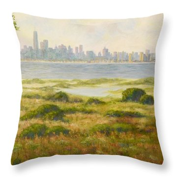 Sandy Hook View Throw Pillow